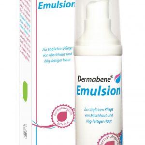 Unsere Dermaben Emulsion. Zur täglichen Pflege von Mischhaut und ölig-fettiger Haut.